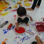 ぐちゃぐちゃ遊び親子教室の流れはこんな感じです